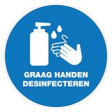 Desinfectiezuil steigerhout (automatisch)_