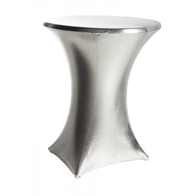 Statafelrok stretch zilver