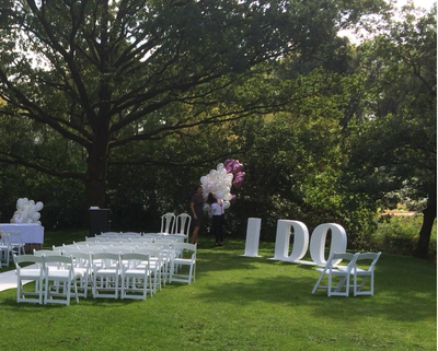 'I DO' letters