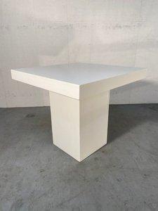 Terrastafel hoogglans wit
