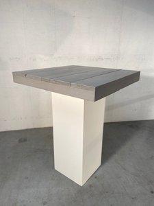 Statafel wit/steigerhout