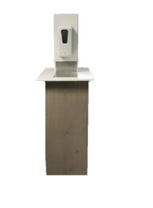 Desinfectiezuil steigerhout (automatisch)