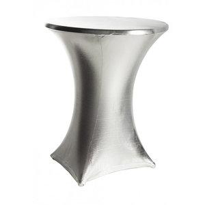 Terras- en statafel topcover zilver
